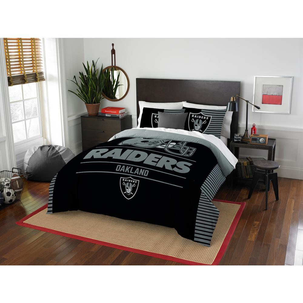 Raiders 3-Piece Draft Multi Full/Queen Comforter Set by