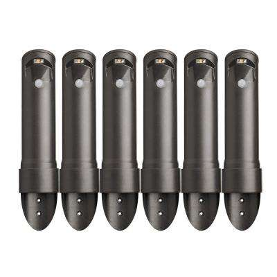 Wireless Bronze Motion Sensing Outdoor Integrated LED Pathway Lights (6-Pack)