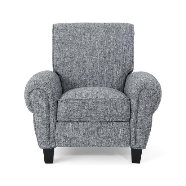 Noble House Del Monte Traditional Pebble Gray Fabric Push Back Recliner