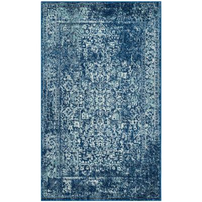 Evoke Navy/Ivory 3 ft. x 5 ft. Area Rug
