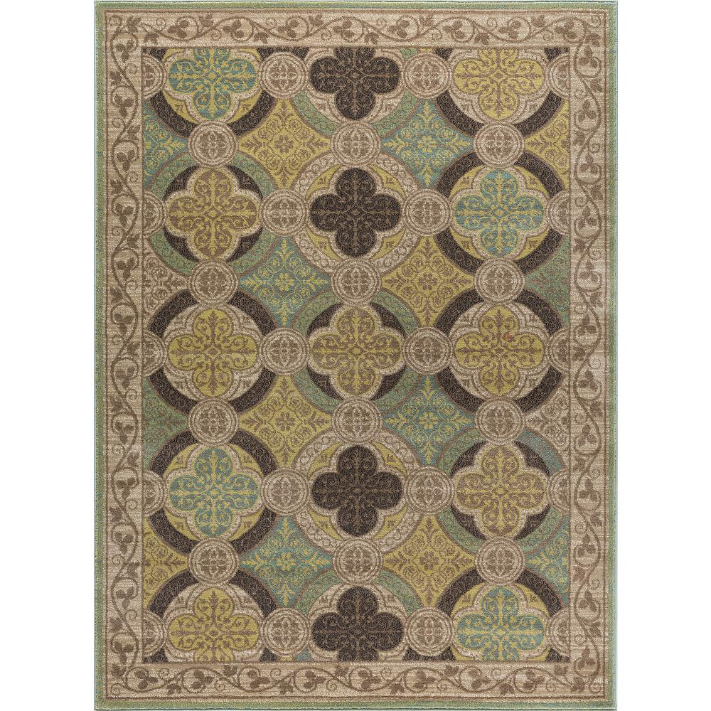 Tayse Rugs Capri Beige 5 ft. 3 in. x 7 ft. 3 in. Transitional Area Rug