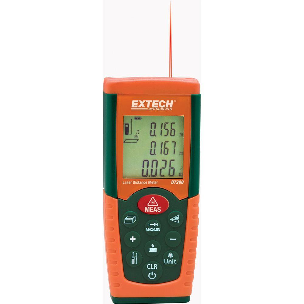 Extech Instruments Laser Distance Meter DT200 The Home Depot