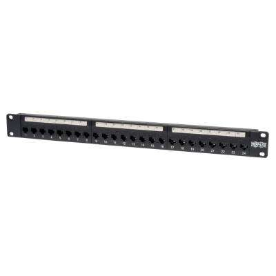 24-Port 1U Cat5e Feed-Through Patch Panel