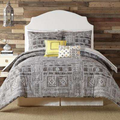 Tranquility 5- Piece Gray King Comforter Set