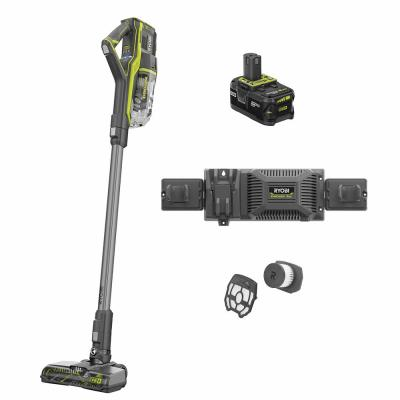 18-Volt ONE+ Cordless Stick Vacuum Cleaner Kit with 4 Ah Battery, EVERCHARGE Charger, and Replacement Filter Assembly