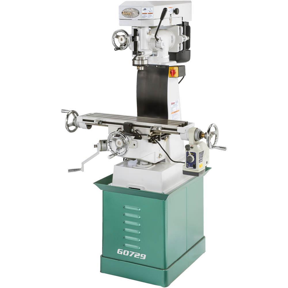 Grizzly Industrial Vertical Mill with Power Feed