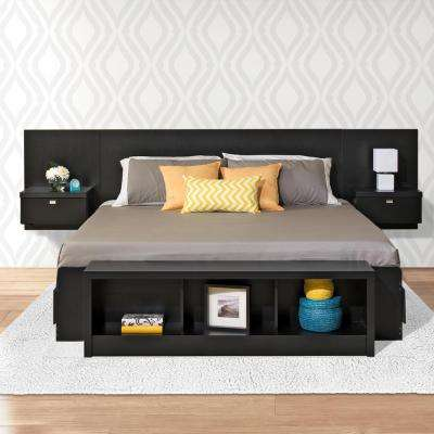 Series 9 1-Piece Black King Bedroom Set
