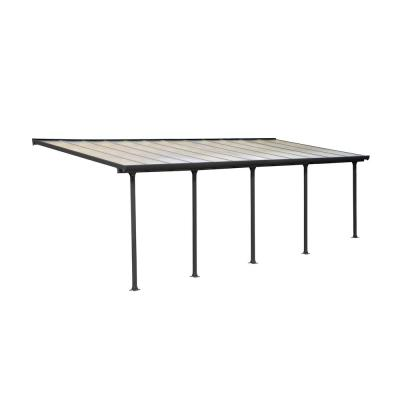 Feria 10 ft. x 24 ft. Grey Patio Cover Awning