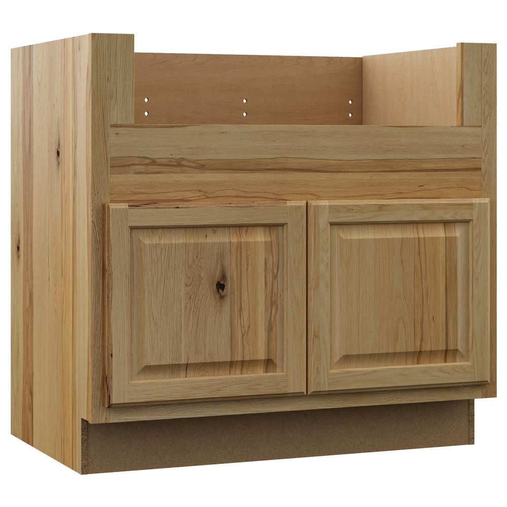 Hampton Bay Hampton Assembled 36x34 5x24 In Farmhouse Apron Front Sink Base Kitchen Cabinet In Natural Hickory