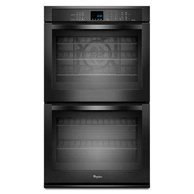 Gold 30 in. Double Electric Wall Oven Self-Cleaning with Convection in Black