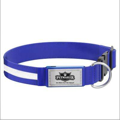 Small Blue LED Dog Collar