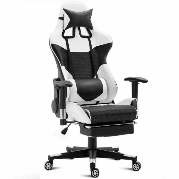 Costway White Ergonomic Gaming Chair