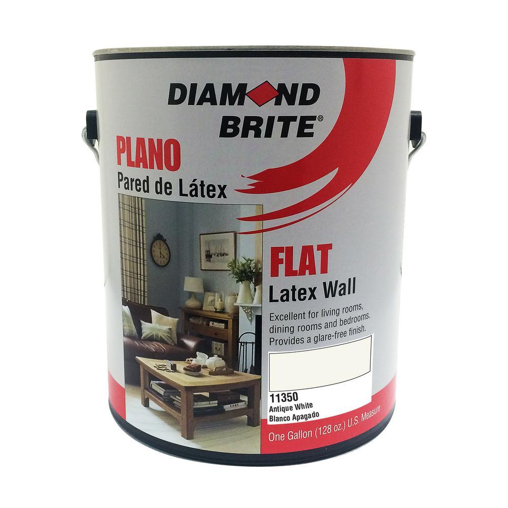 1 Gal Antique White Flat Latex Interior Paint