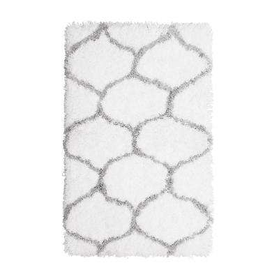 Alfred Chunky Shag Grey/White 2 ft. x 4 ft. Area Rug