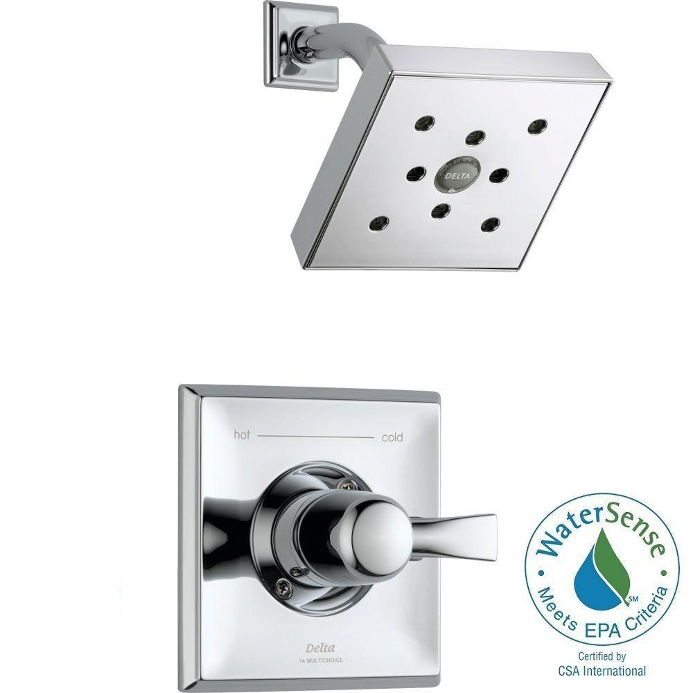 Delta Dryden 1-Handle H2Okinetic 1-Spray Shower Faucet Trim Kit Only in Chrome (Valve Not Included)