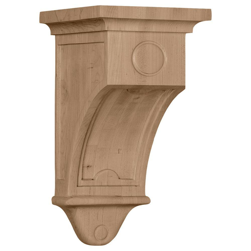 Ekena Millwork 5 in. x 5 in. x 9 in. Cherry Arts and Crafts Corbel