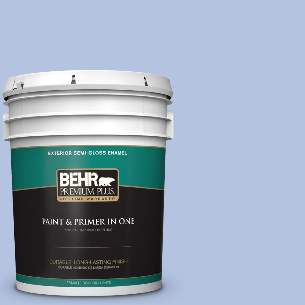 5-gal. #600C-3 Periwinkle Bud Semi-Gloss Enamel Exterior Paint