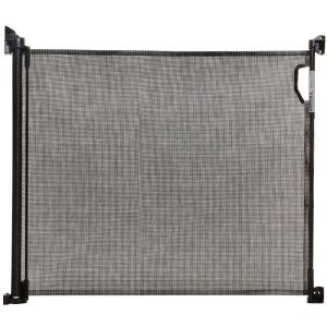 34 in. H x 55 in. W Black Retractable Indoor/Outdoor Safety Gate