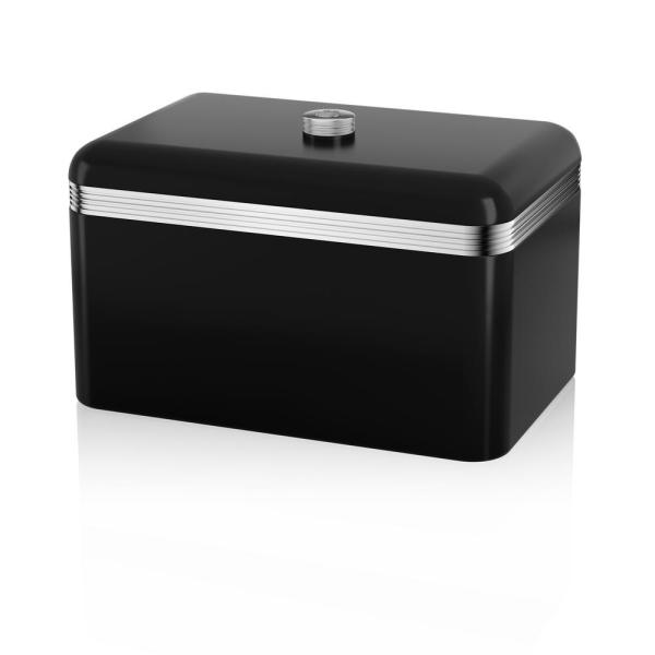 Retro Black Bread Bin