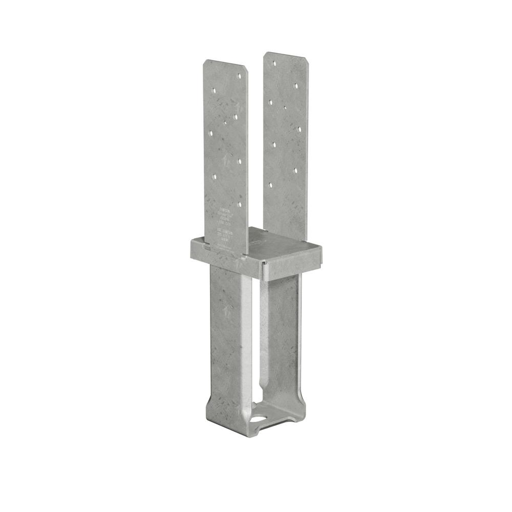 Simpson Strong-Tie 4 in. x 6 in. 12-Gauge Hot-Dip Galvanized Standoff Column Base with SDS Screws