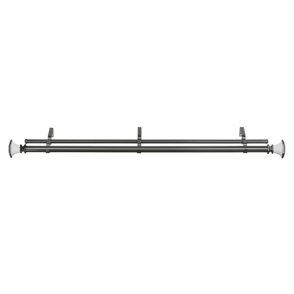 Buono II 36 in. to 72 in. Monet Decorative Double Rod