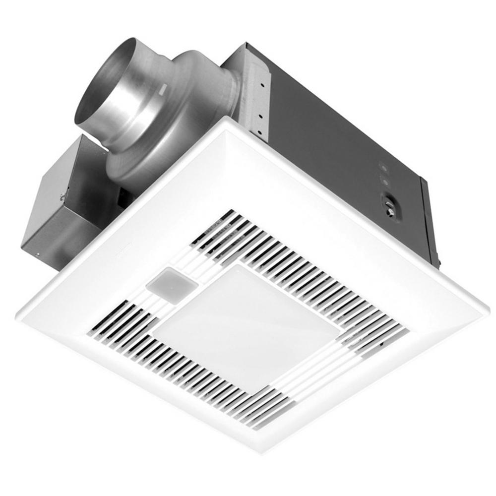 . Panasonic Deluxe 110 CFM Ceiling Bathroom Exhaust Fan with Light  Motion  Sensor and Humidity Control Sensor  Energy Star