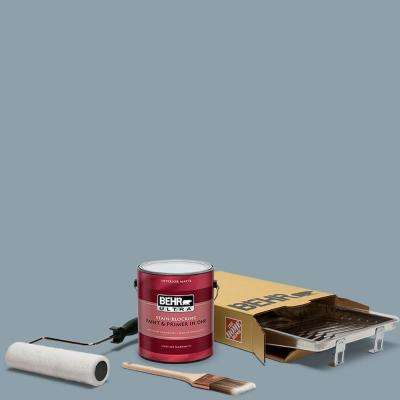 1 gal. #N480-4 French Colony Ultra Matte Interior Paint and 5-Piece Wooster Set All-in-One Project Kit