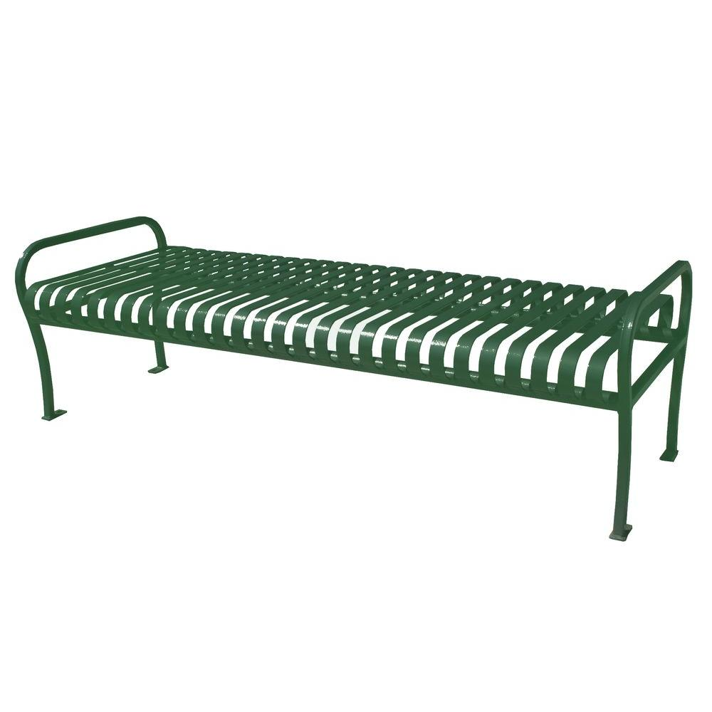 Marvelous Paris 6 Ft Green Premier Backless Bench Beatyapartments Chair Design Images Beatyapartmentscom