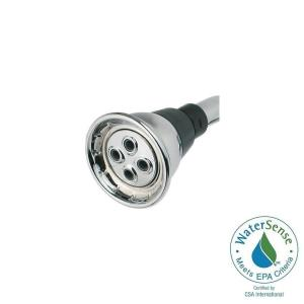 economy 1spray 16 gpm watersaving shower head in chrome