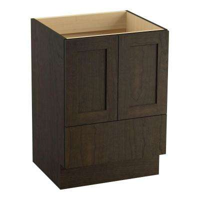 Poplin 24 in. Vanity Cabinet Only in Felt Gray