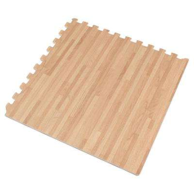White Oak Printed Wood Grain 24 in. x 24 in. x 3/8 in. Interlocking EVA Foam Flooring Mat (24 sq. ft. / pack)