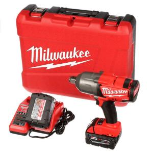 Milwaukee M18 FUEL 18-Volt Lithium-Ion Brushless Cordless 3/4 inch High Torque Impact Wrench W/ Friction Ring Kit by Milwaukee