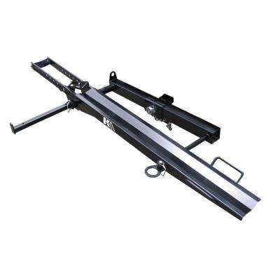 400 lb. Capacity Hitch Mounted Motorcycle Carrier with Adjustable Front Wheel Channel