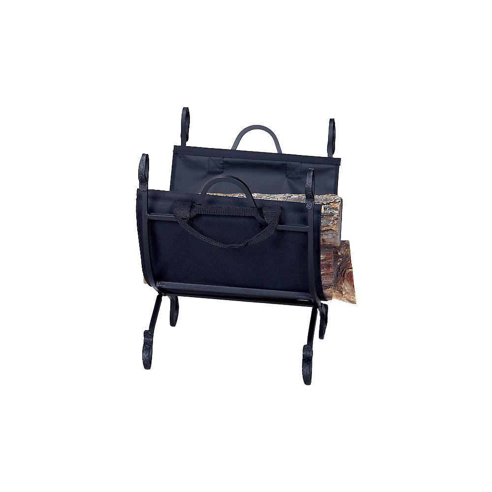 UniFlame Decorative Firewood Rack with Removable Canvas Tote
