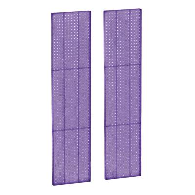 60 in. x 13.5 in. H Pegboard Purple Styrene One Sided Panel (2-Pieces per Box)