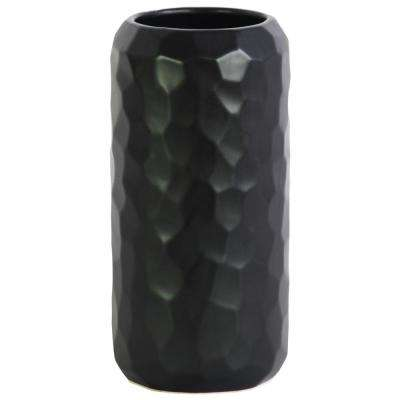 Black Matte Ceramic Decorative Vase