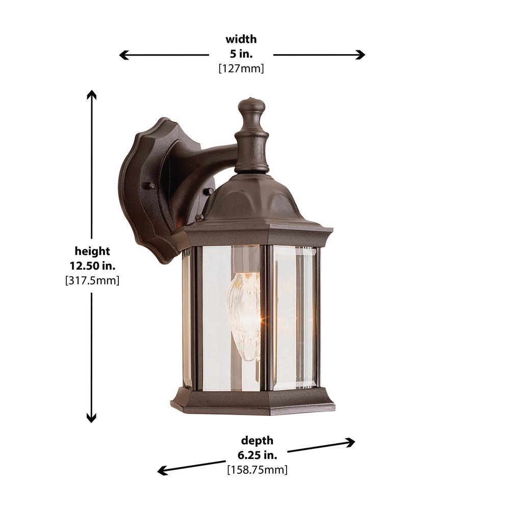 Light Outdoor Rust Coach Wall Lantern
