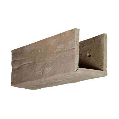6 in. x 6 in. x 12 in. 3 Sided (U-Beam) Riverwood Whitewash Endurathane Faux Wood Ceiling Beam Premium Sample
