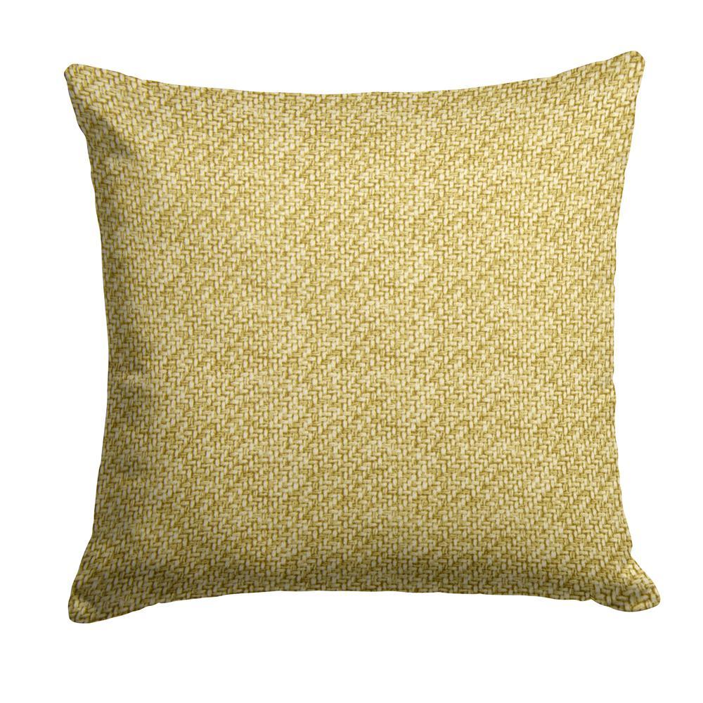 Woven Green Square Outdoor Throw Pillow