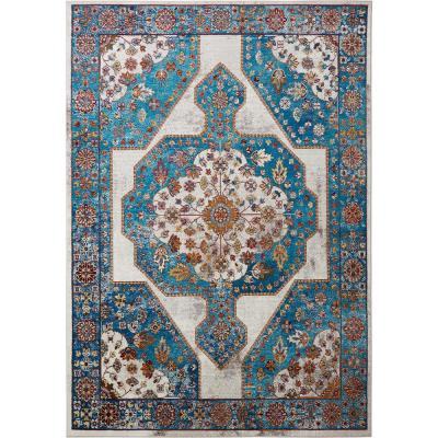 Parlin Nora Ivory/Blue 7 ft. 9 in. x 9 ft. 5 in. Indoor Area Rug