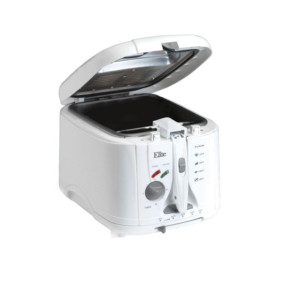 Cool-Touch Deep Fryer, White