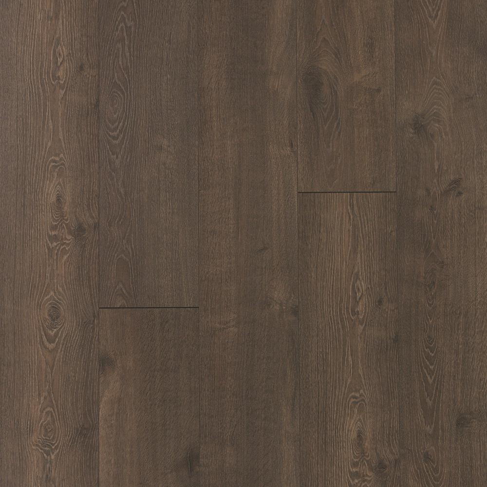 Hudson Brown Oak Laminate Flooring- 5 in. x 7 in. Take Home Sample