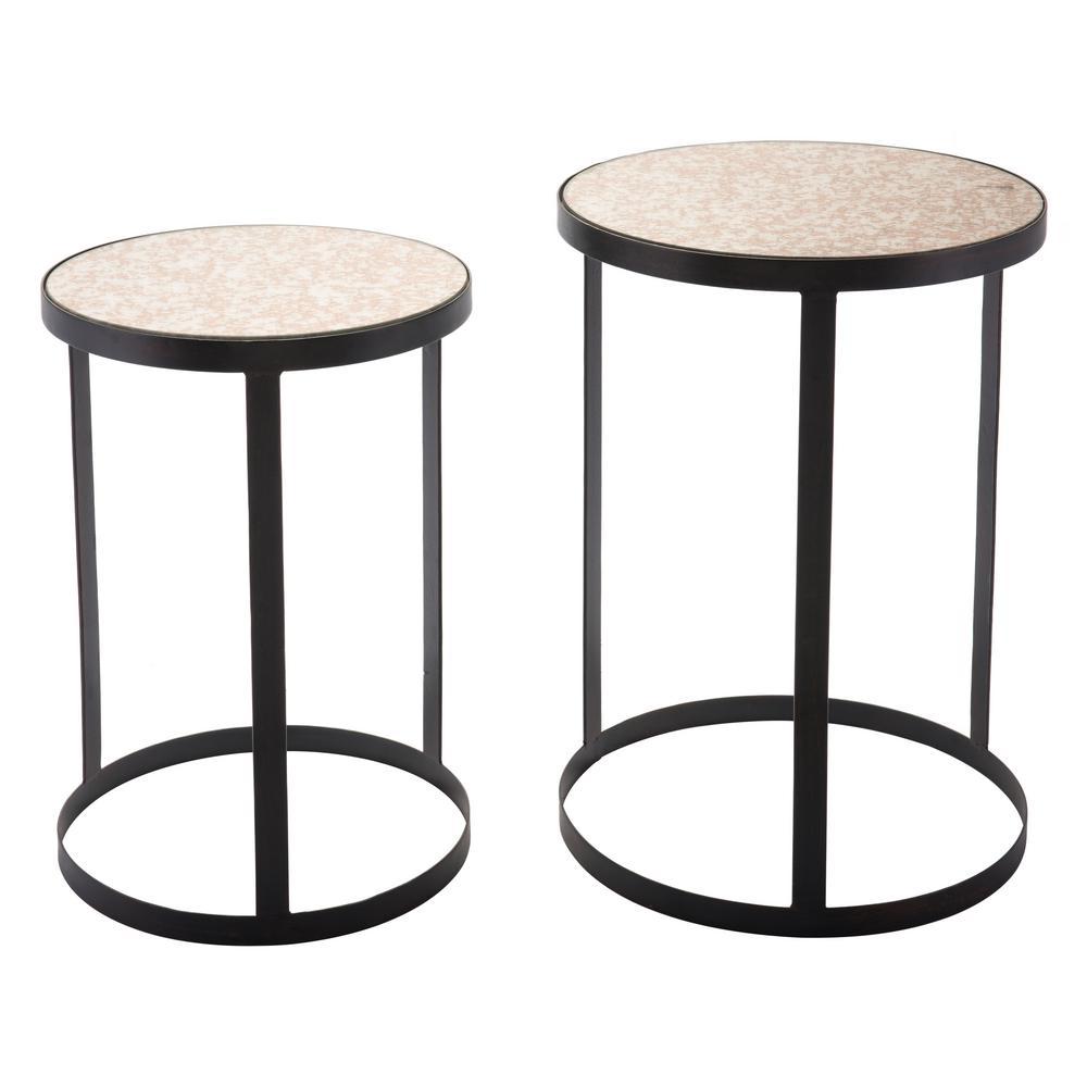 Antique Black Tables (Set of 2)
