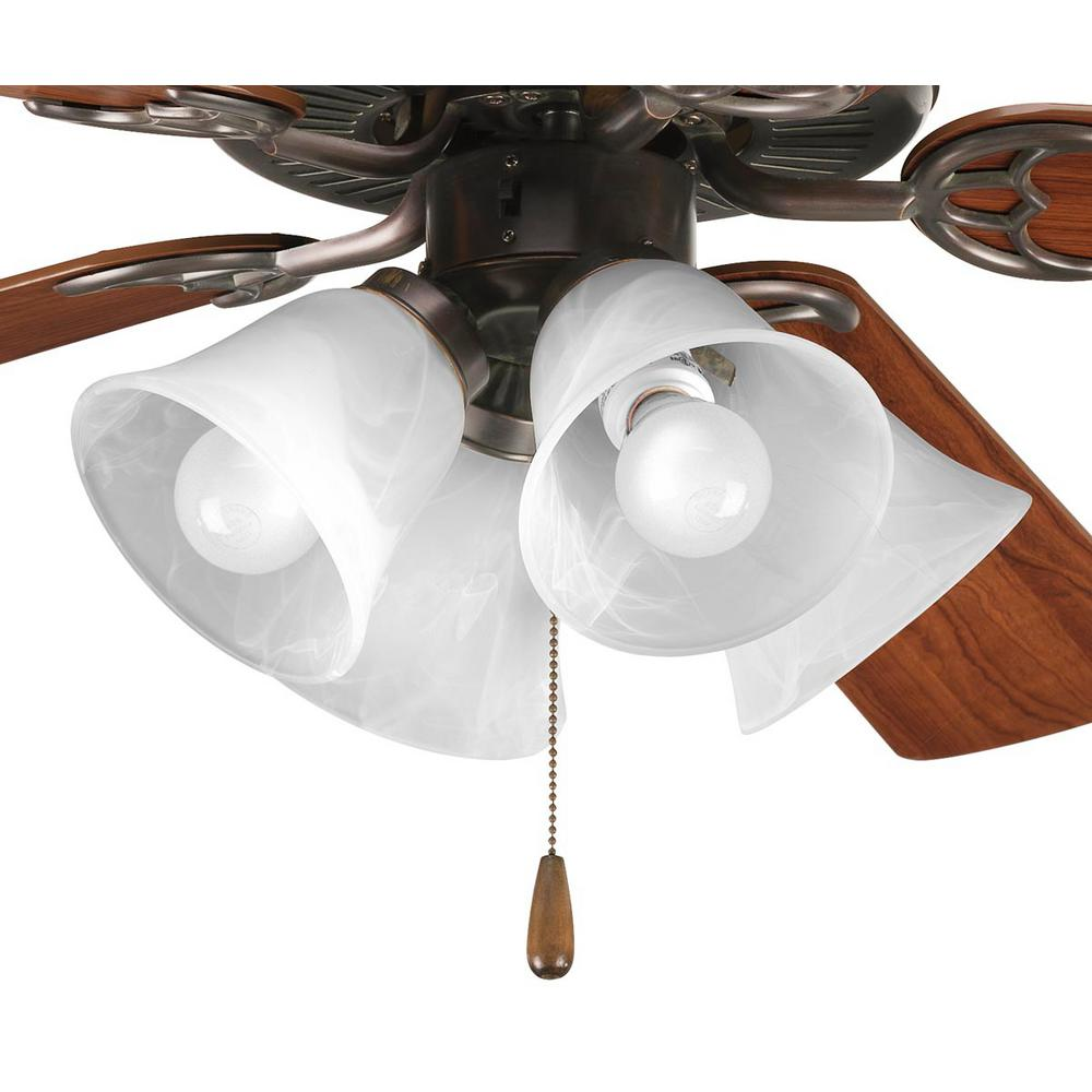 progress lighting fan light kits collection 4 light antique bronze ceiling fan light kit p2610. Black Bedroom Furniture Sets. Home Design Ideas