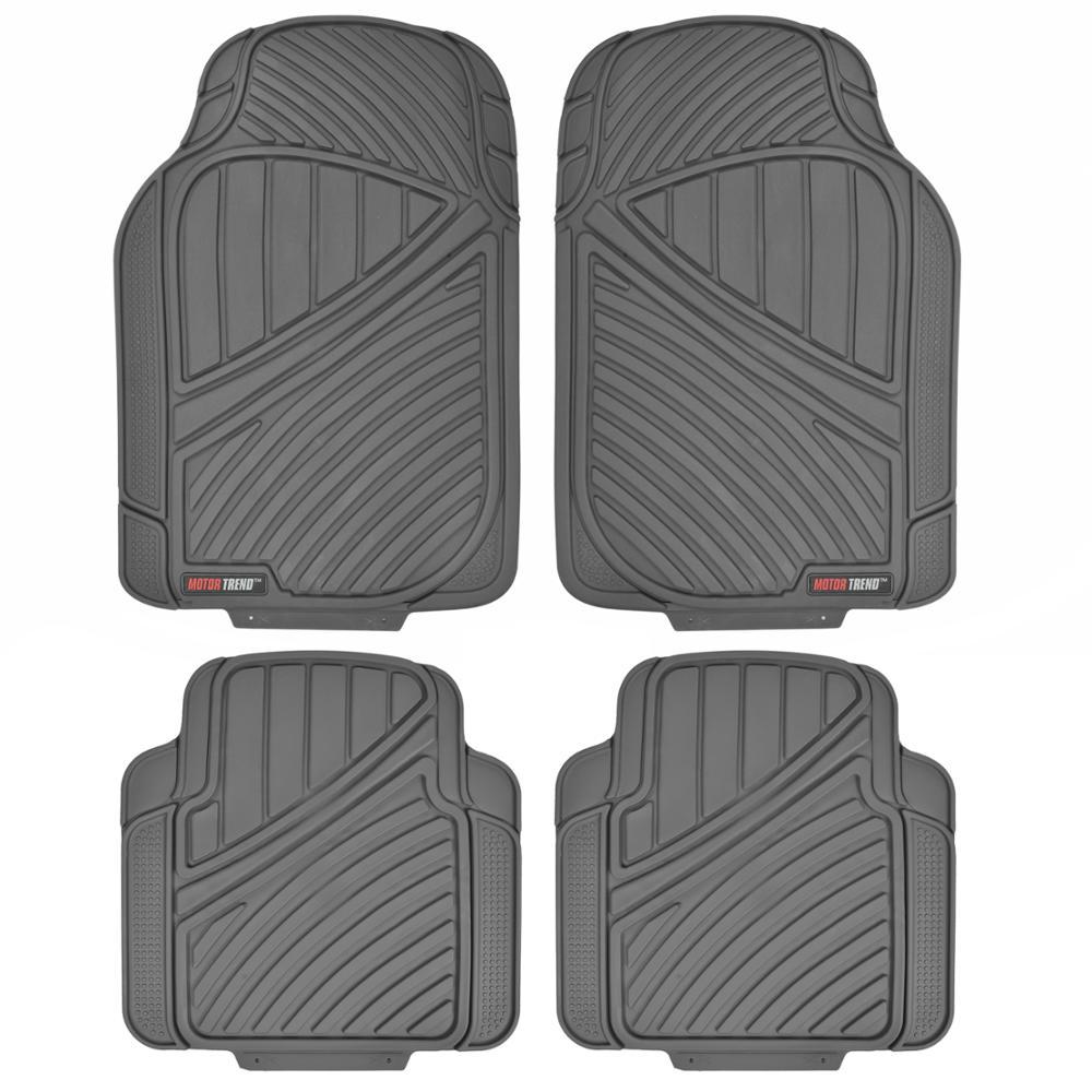 FlexTough MT-774 Gray Heavy Duty 4 Piece All Weather Rubber Car