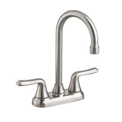 Colony Soft 2-Handle Bar Faucet with 2.2 GPM in Stainless Steel