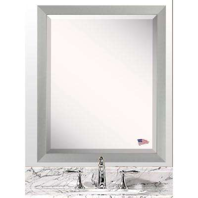 20.5 in. x 16.5 in. Juliet Soft Silver Beveled Vanity Wall Mirror