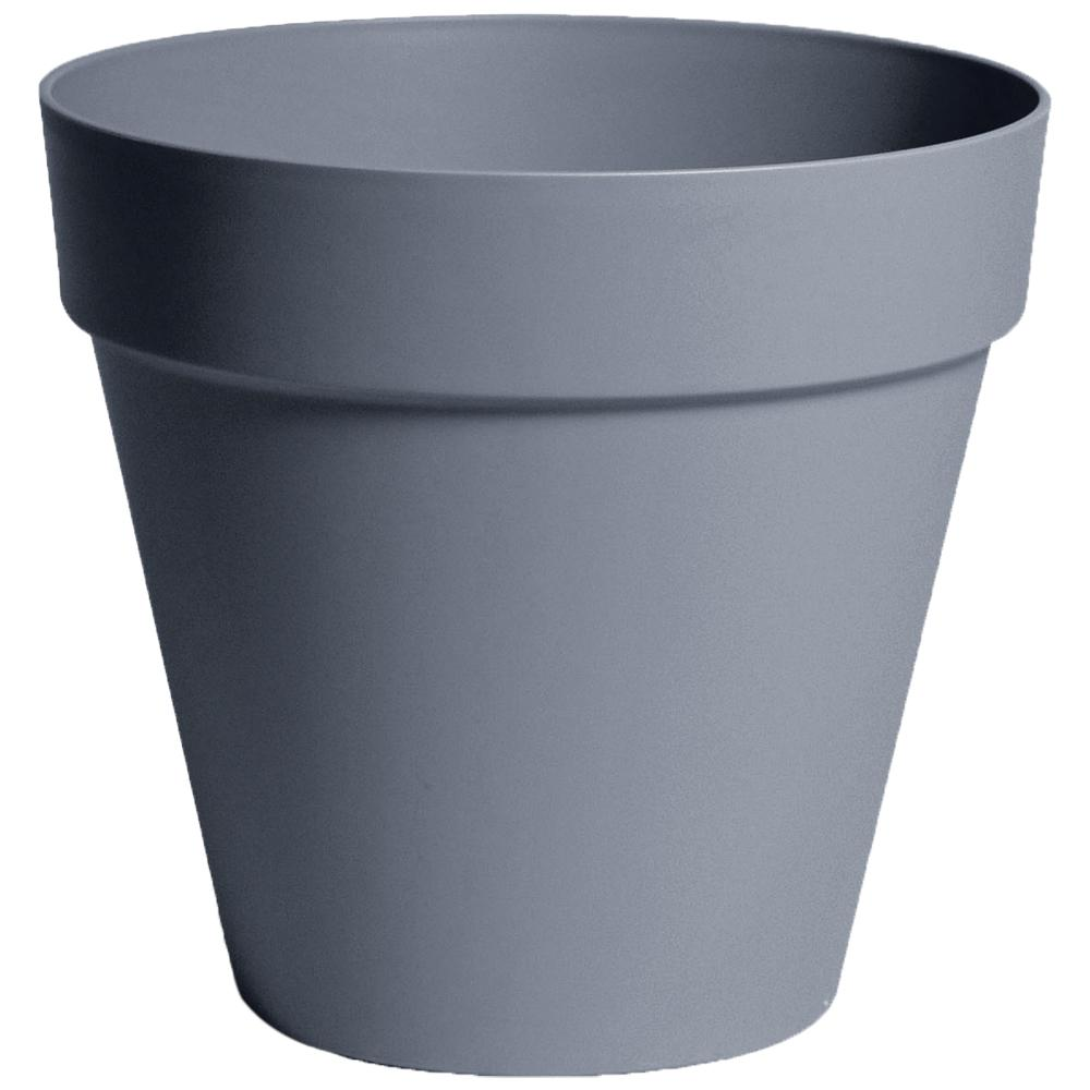Rio 13.25 in. Dia Pebble Grey Plastic Planter