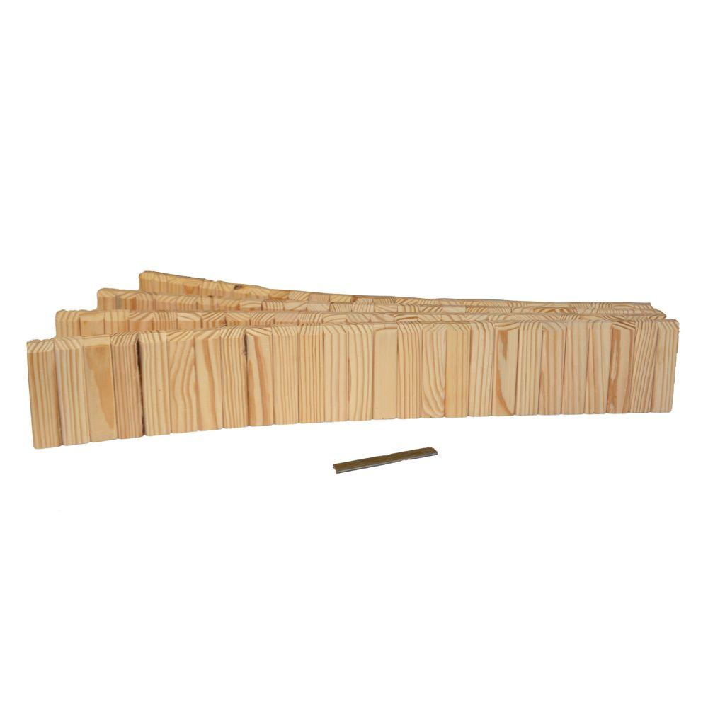 Design Craft MIllworks 5-1/2 in. x 12 ft. Natural Wood Lawn Edging