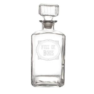 Click here to buy  Full of Boos 34 oz. Glass Decanter.